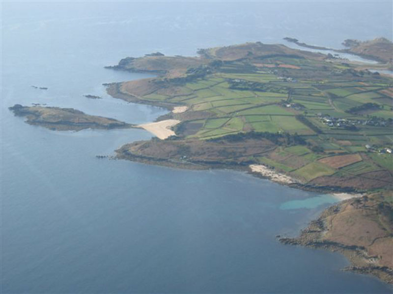 Pelistry Bay and Tolls Island, St Marys
